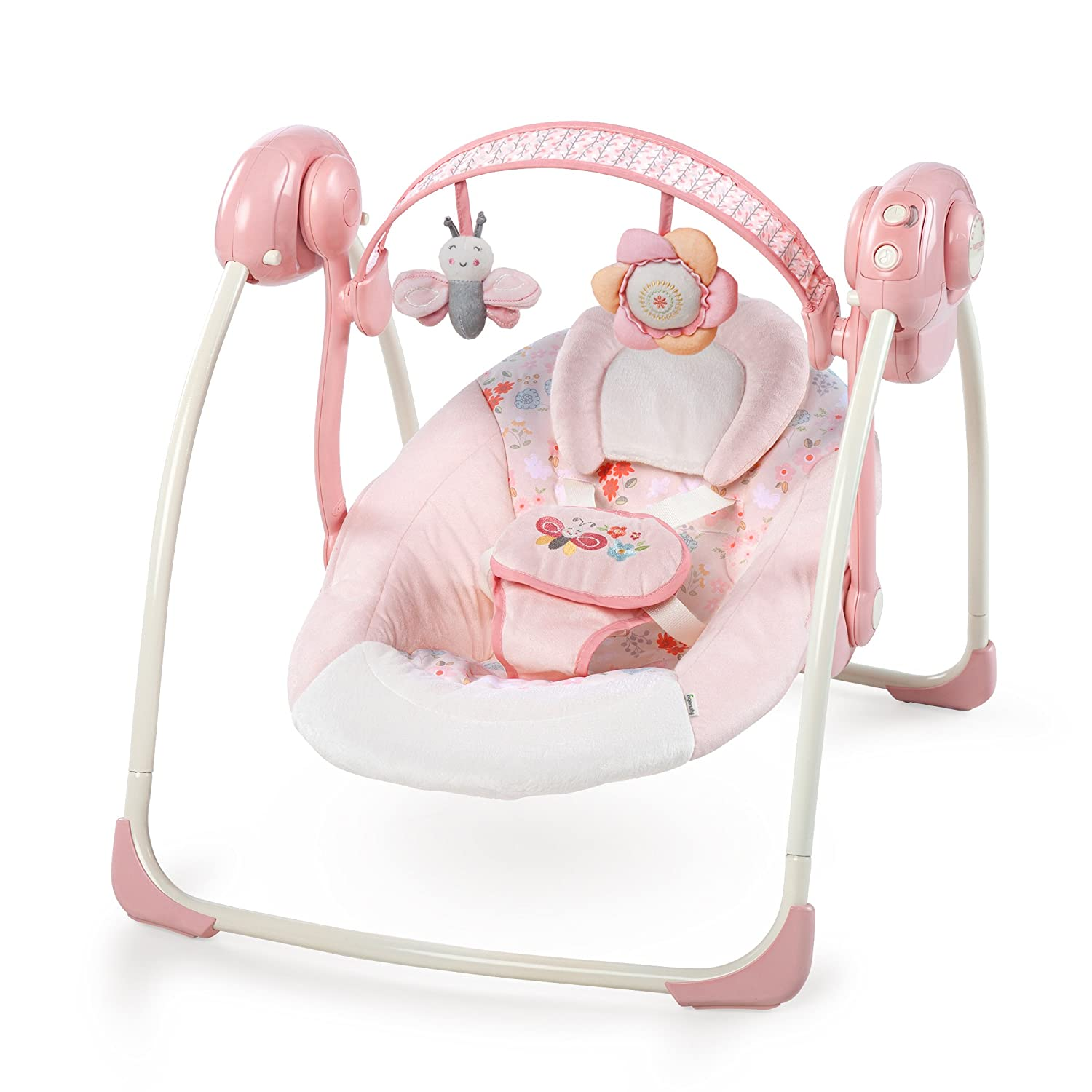 Ingenuity Soothe 'N Delight Portable Swing, Felicity Floral Kids II (Chino CA) 60675