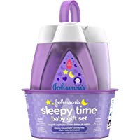 Johnson's Sleepy Time Baby Gift Set with Relaxing NaturalCalm Aromas, Bedtime Baby Essentials, Hypoallergenic & Paraben…