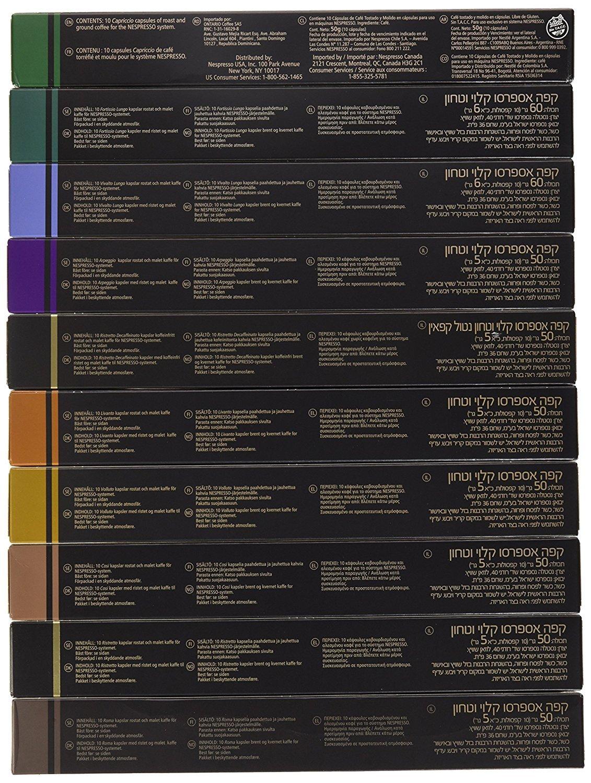 Nespresso Originaline - (Roma, Volluto, Livanto, Arpeggio, Fortissio, Decaffeinatio Intenso, Capriccio, Ristretto, Cosi & Vivalto) (300 Count (10 Varieties ...