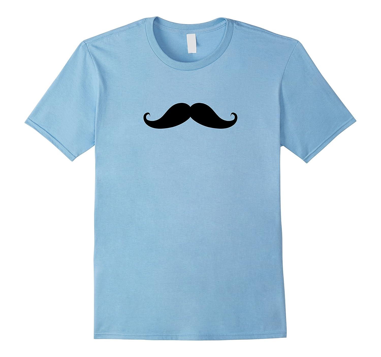 Baby Blue Mustache T-Shirt-CL