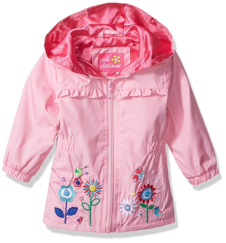 0bfb063e74b3 Amazon.com  Pink Platinum Baby Girls  Garden Applique Windbreaker ...