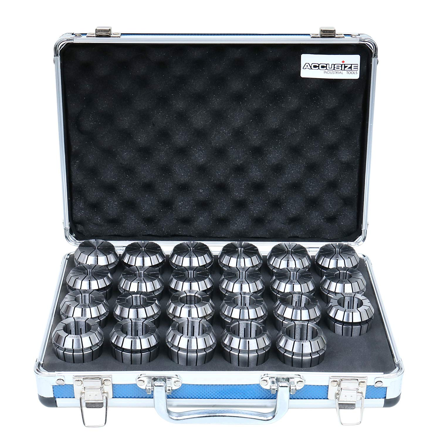 B00SJEK6M6 Accusize Industrial Tools 4 mm to 26 mm by 1 mm ER-40 Collet Set, 23 Pcs/Set in Fitted Strong Aluminium Box, 3350-0586 819cjUoBcNL._SL1500_