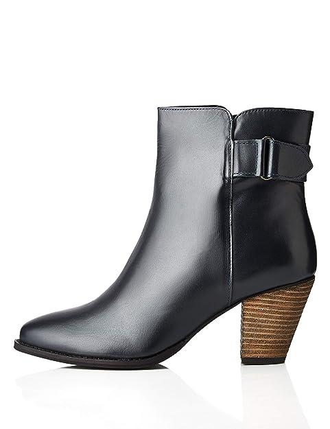new concept a7e28 24a88 Amazon-Marke: find. Stiefeletten Damen mit Smoked-Details und Fersenriemen