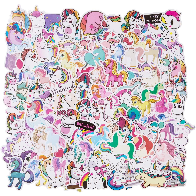 Stickers Calcos 100 un. Unicornio Origen U.S.A. (7RXBQWPC)