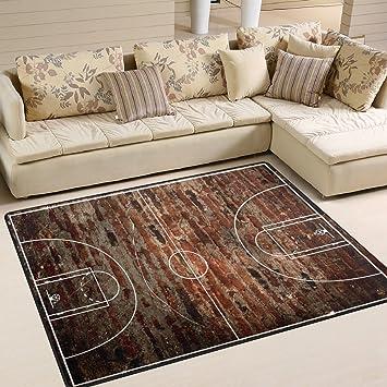 Amazon.com: ALAZA cancha de baloncesto en Grungy ladrillo ...