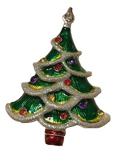 macys holiday lane christmas tree brooch pin - Christmas Pins