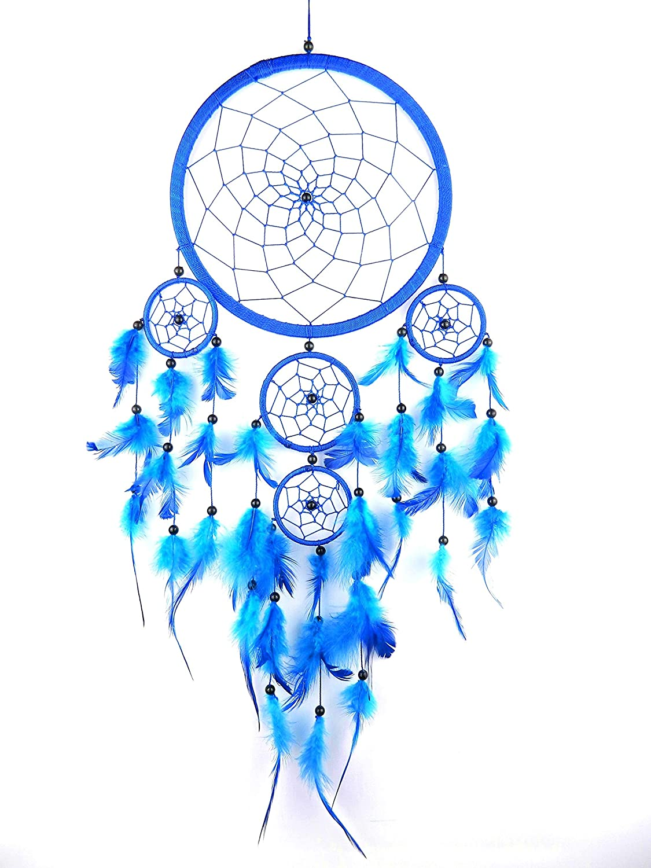 8f70804fe61da LARGE BLUE DREAM CATCHER Native American traditional dreamcatcher MORE  COLOURS AVAILABLE: Amazon.co.uk: Kitchen & Home