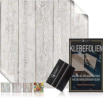 16,61/€//m/² Rakel /& eBook mit Profitipps I Klebefolie Holz f/ür M/öbel /& K/üche abwaschbar /& hitzebest/ändig I M/öbelfolie Shabby Holzdekor Selbstklebende Folie in Holz-Optik vintage bunt I inkl