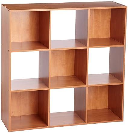 ClosetMaid 8980 Cubeicals 9 Cube Organizer, Alder