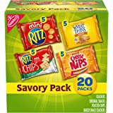 Nabisco Savory Cracker Variety Pack, RITZ, Cheese Nips, Wheat Thins & RITZ Toasted Chips Sour Cream and Onion, Halloween…