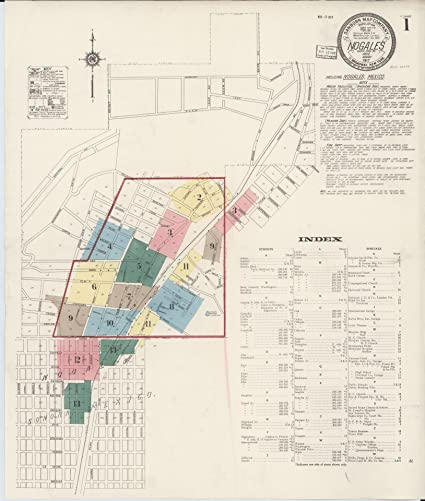 Amazon Com Laminated Poster Sanborn Fire Insurance Map From Nogales