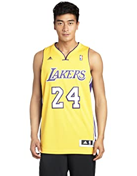 Adidas Nba Kobe Bryant Los Angeles Lakers Swingman Jersery - Camiseta de baloncesto para hombre, color amarillo/azul, talla XL: Amazon.es: Deportes y aire ...