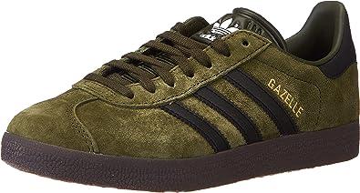 adidas Men's Gazelle Sneaker, Night Cargo Core Black