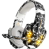 DIZA100 Kotion Each G9000 Gaming Headset Headphone 3.5mm Stereo Jack with Mic LED Light for Xbox One S/Xbox one/PS4…