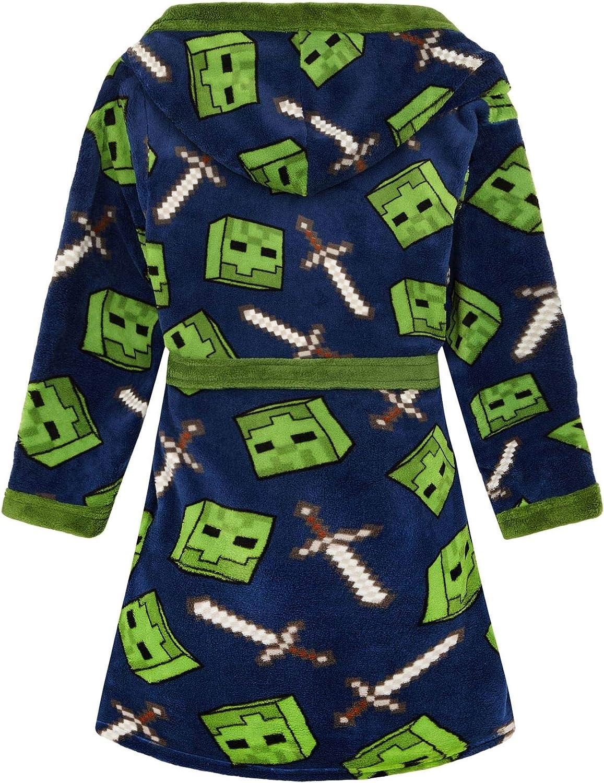 Minecraft Creeper Bathrobe /& 3D Slippers Boys//Kids Gift Set Bundle
