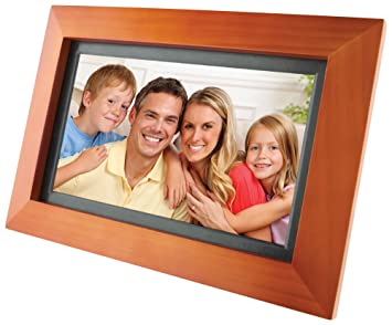 gpx pf903cw 9 inch digital photo frame walnut