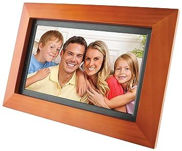 gpx pf903cw 9 inch digital photo frame walnut