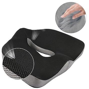 Comfort Memory Foam Seat Cushion/ Car Seat Cushion/ Chair Cushion/ Sciatica  Cushion/
