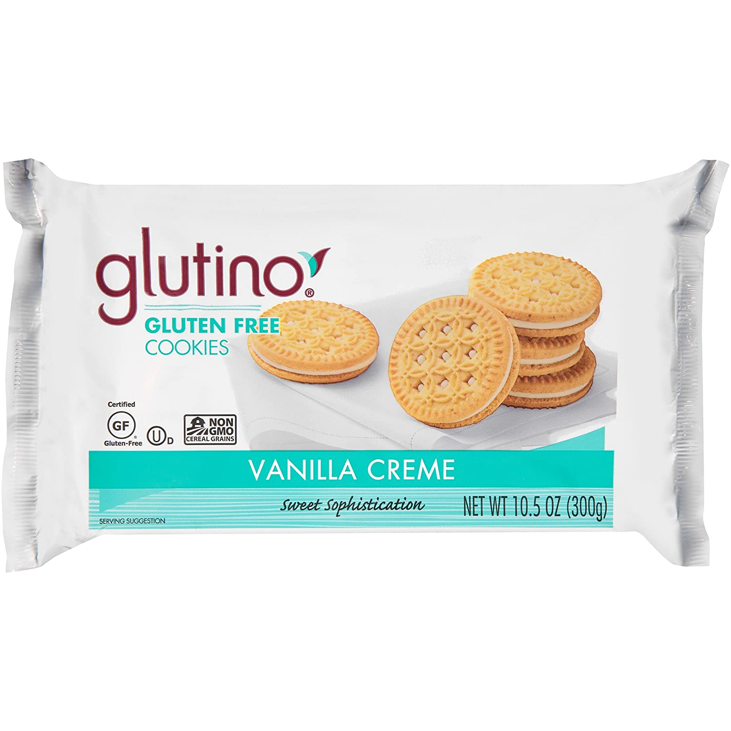 Glutino Gluten Free Vanilla Creme Cookies, Decadent Cookie,10.5 Ounce(Pack of 6)