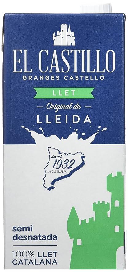 El Castillo Leche Semidesnatada - Pack 6 x 1 L - Total: 6 L