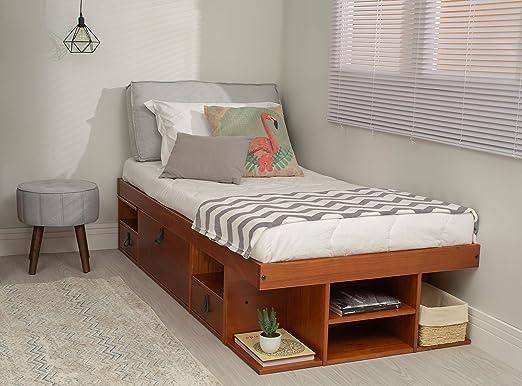 Funktionsbett Bali 90x190 - Bett mit viel Stauraum und Schubladen, optimal  für kleine Schlafzimmer - Modernes Stauraumbett aus Kiefer Massivholz - ...