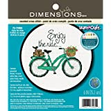 Simplicity Vintage Dimensions Crafts 72-73985 Adult Learn a Craft Counted Cross Stitch, Enjoy The Ride