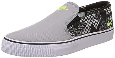 official photos 9bcc6 b658f ... coupon code nike mens toki slip txt printwolf grey leather sneakers 6  uk india 40 1dba0
