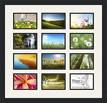 Amazoncom Arttoframes Collage Photo Frame Double Mat With 12