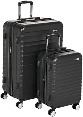 69b405151 AmazonBasics Premium Hardside Spinner Luggage with Built-In TSA Lock - 2- Piece Set