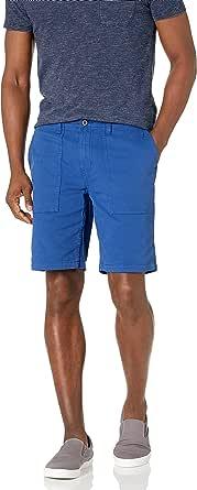 Marca Amazon - Goodthreads: pantalones cortos elásticos de lona para caballero de 23 cm.