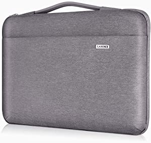 """Landici Laptop Case Sleeve 11 11.6 12 Inch with Handle,360°Protective Waterproof Computer Cover Bag Compatible with MacBook Air 11,Surface Pro 7/6,Acer Hp ASUS Chromebook,12.5"""" Tablet-Khaki Gray"""