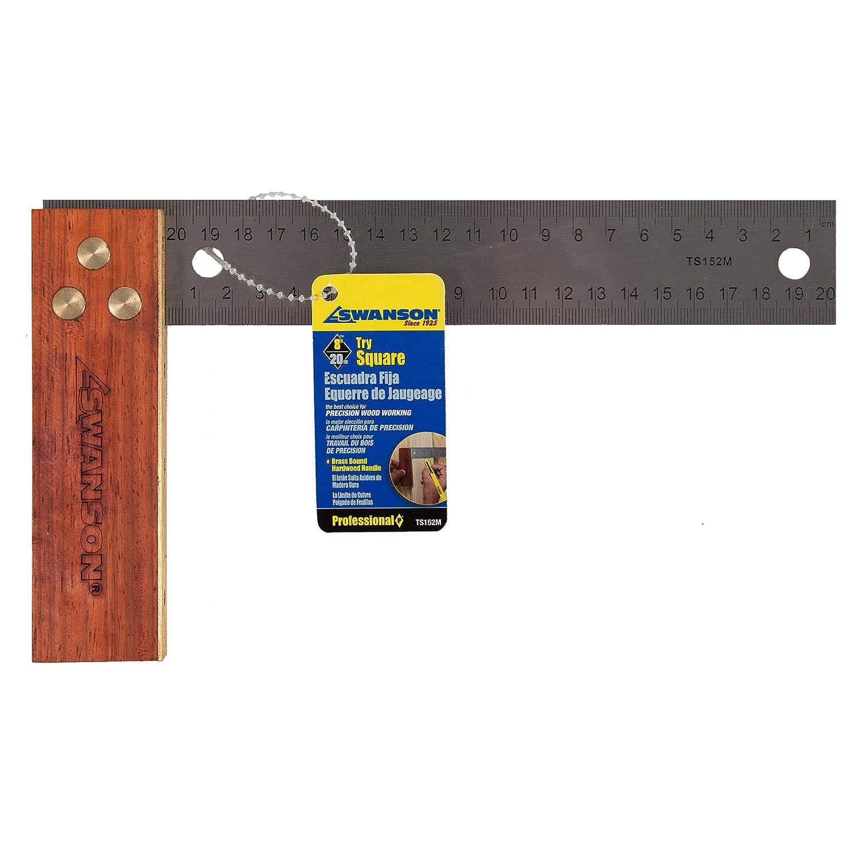 Swanson Tool TS152M 20 cm Try Square w Hardwood Handle
