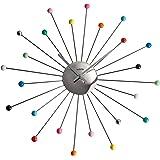 Vedette - VP40029 - Pendule Aluminium - Quartz Analogique - Cadran Argent - 45 cm