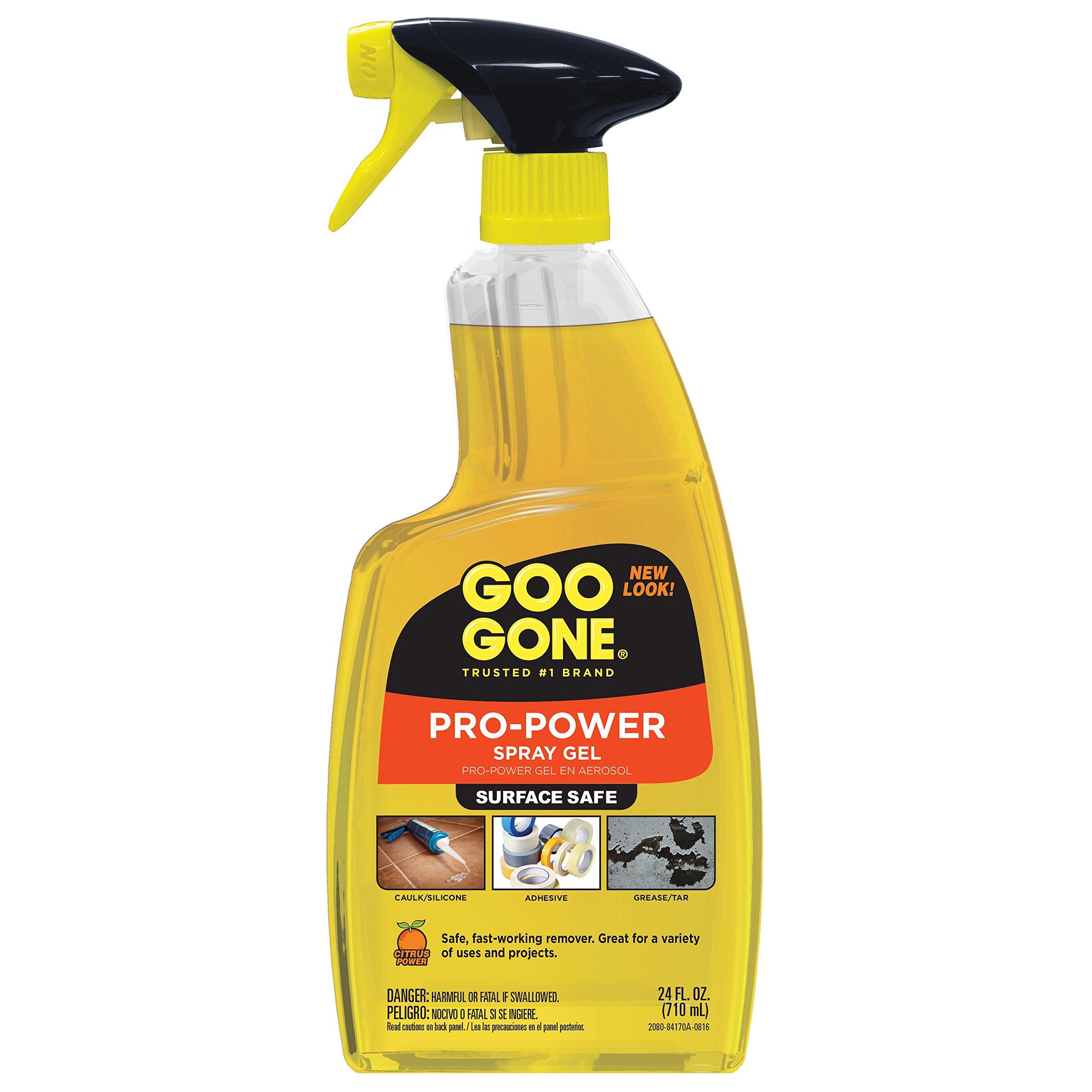 Goo Gone 2080 Pro-Power Spray Gel, Citrus Scent, 24 fl. oz., 11.25'' Height, 8.6'' width (Pack of 6)