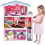 Kids House Casa de Muñecas de Madera Isabella Playhouse