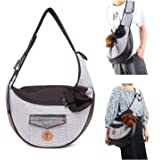 PETCUTE Dog Sling Carrier Bag Pet Sling Carrier Cat Dog Shoulder Bag Carrier with Adjustable Strap