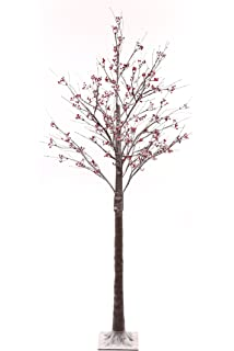 finest selection 32c4d 80b3e WeRChristmas Pre-Lit LED Twig Tree with Snow Christmas ...