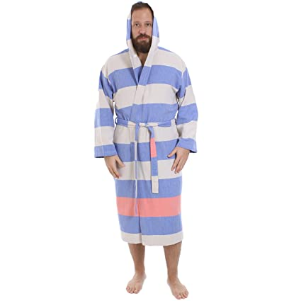Image Unavailable. Image not available for. Color  Cacala Hooded Turkish  Bathrobe – Comfortable 100% Cotton Turkish Bath Towel Fabric – Bright 20b8f9965