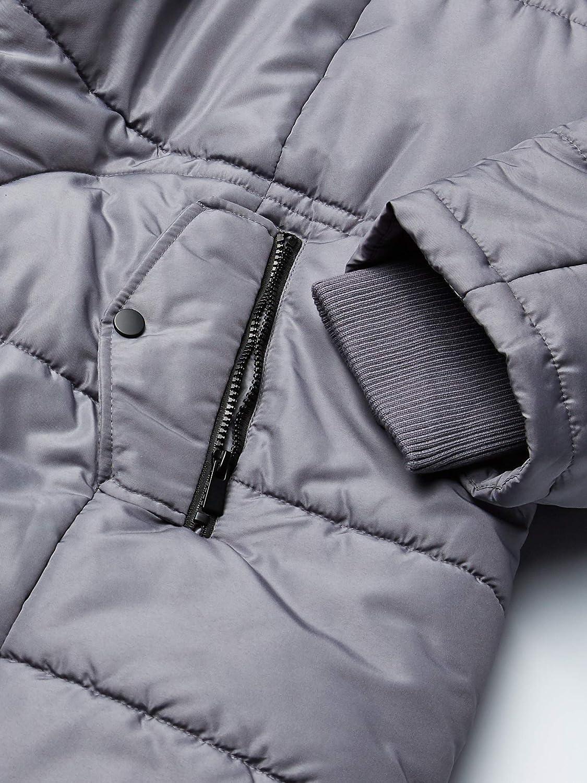 INTL d.e.t.a.i.l.s womens Thigh-Length Puffer Jacket with Sweatshirt Bib Down Alternative Coat