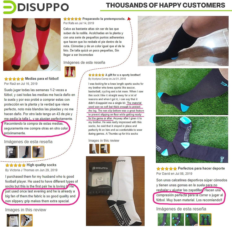 DISUPPO Football Socks Non-slip Long Sport Socks for Men Women Athletic Socks Soccer Basketball Hockey Sports Team Cushion Socks