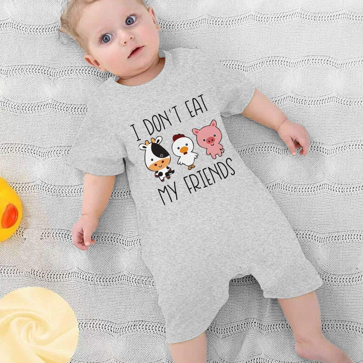 UGFGF/&3 I Dont Eat My Friend Baby Boy Short Sleeve Bodysuit Bodysuits 0-24 Months