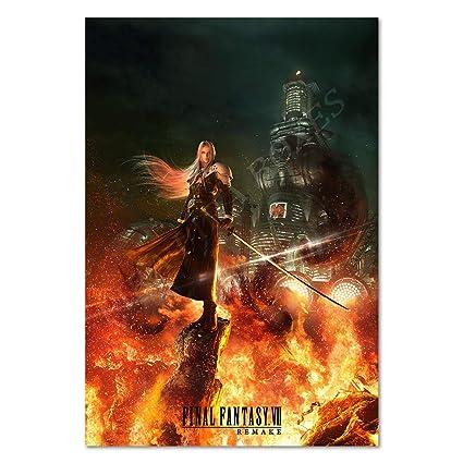 Pira Pira Boxes Final Fantasy Vii Remake Poster Sephiroth Exclusive Art 24x36