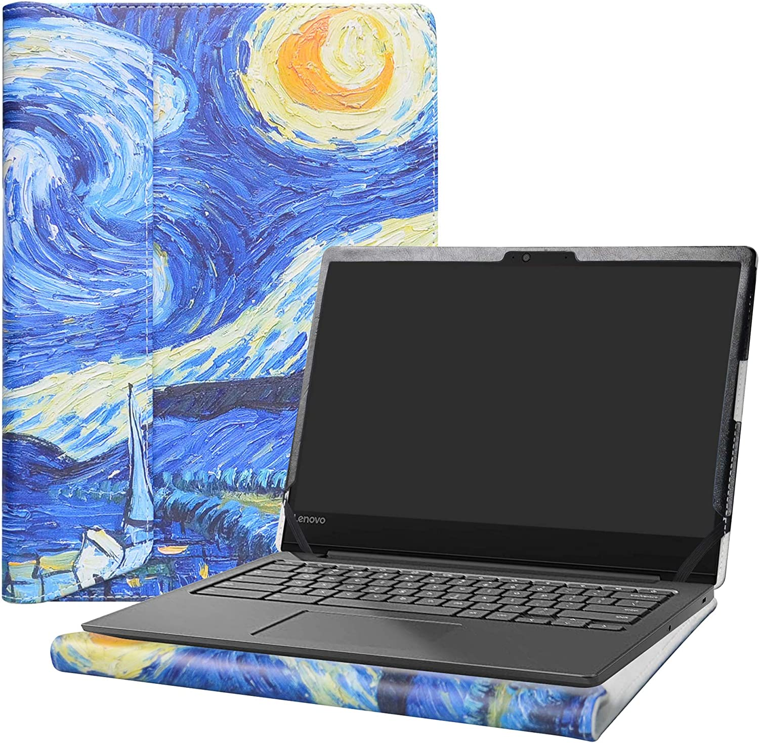 "Alapmk Protective Case Cover For 14"" Lenovo Chromebook S330 / Lenovo ideapad S340 14 S340-14IWL S340-14API S340-14IIL Series Laptop[Note:Not fit Lenovo Chromebook C330 C340],Starry Night"