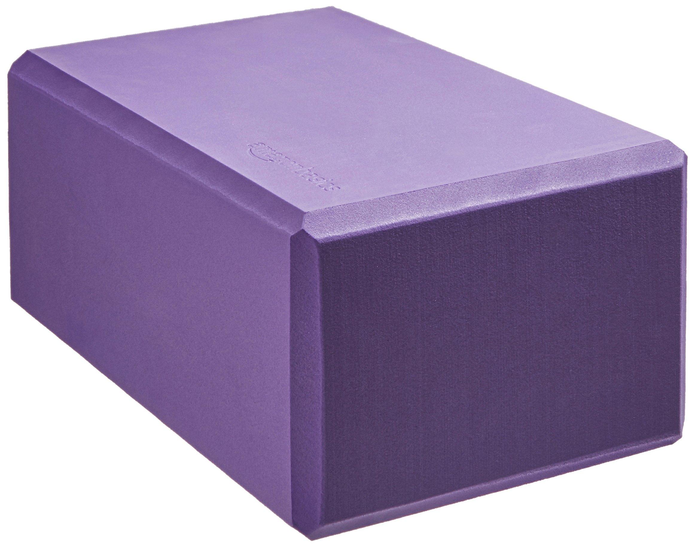 AmazonBasics Foam Yoga Blocks - 4 x 9 x 6 Inches, Set of 2, Purple by AmazonBasics (Image #4)