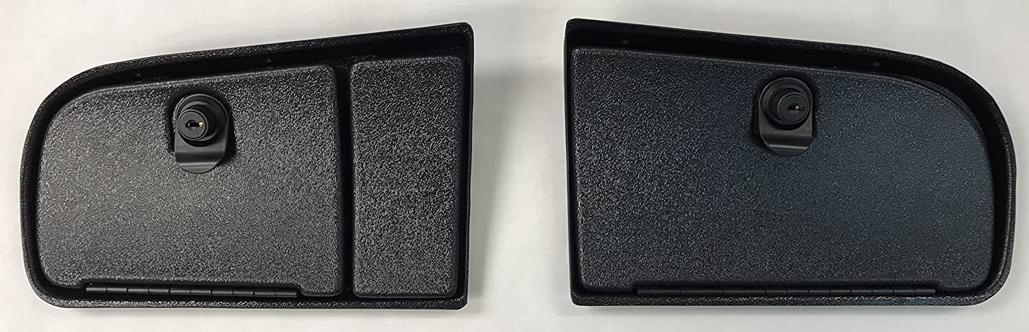 E-Z-Go TXT Golf Cart EZ Install Locking Glove Box Door Set In Black (WILL FIT NEW AND CURRENT GENERATION 1994 AND UP) (WILL NOT FIT RXV MODELS)