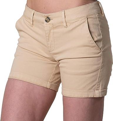 Rupert and Buckley - Pantalones Cortos de algodón para Mujer Beige ...
