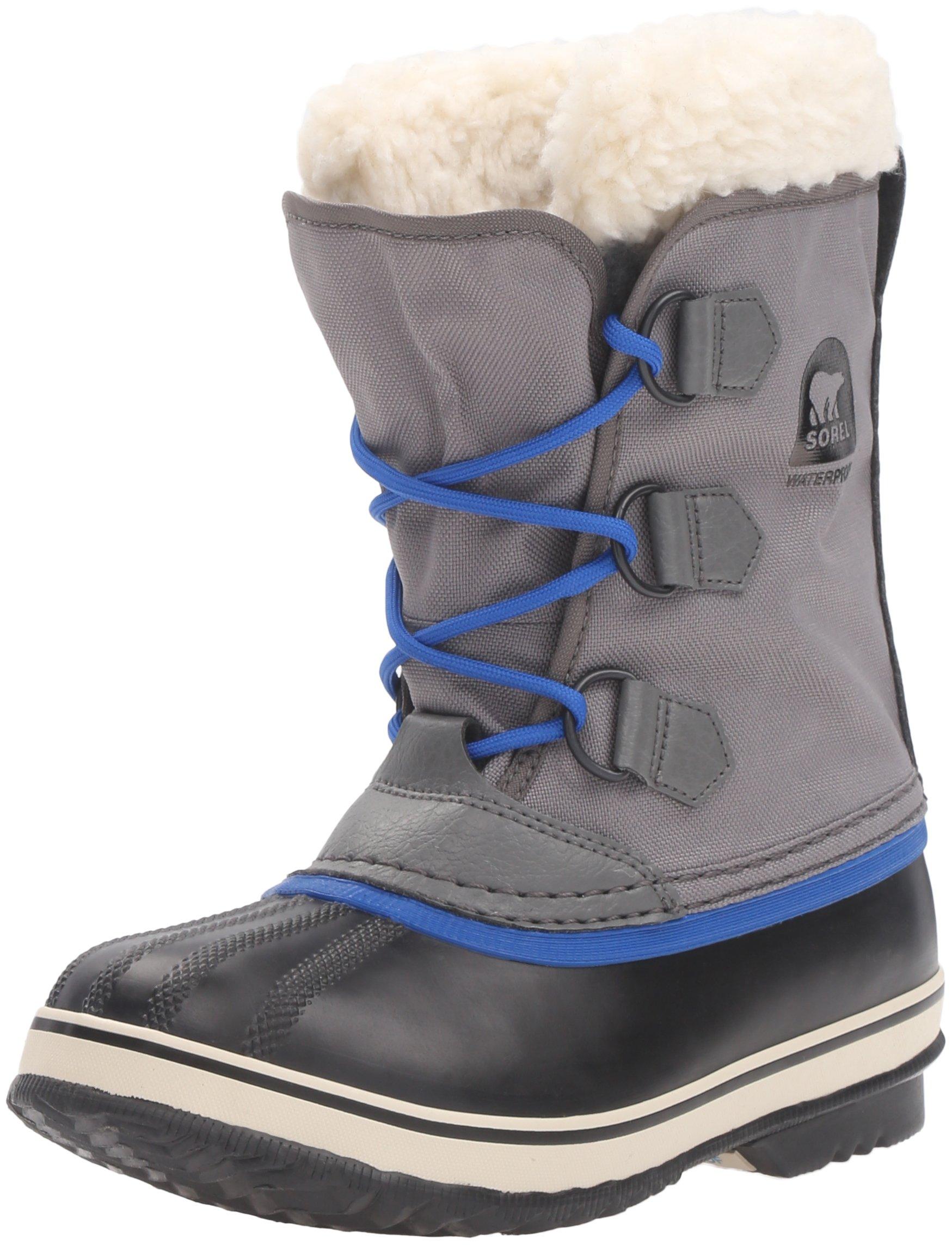 SOREL Yoot Pac Nylon-K Snow Boot, Grey, 3 M US Little Kid