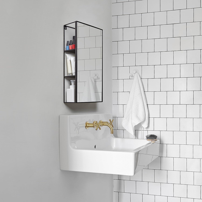 Amazon.com: Umbra Cubiko Mirror and Storage Unit, Black, 1009654-040 ...