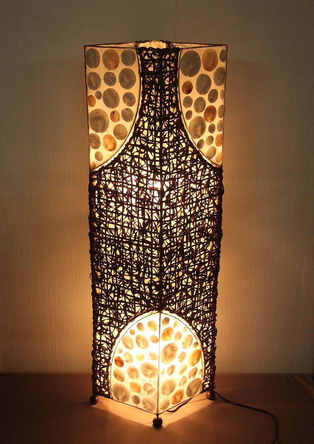 Lámpara de pie asiatica Batur (LA12-41), Decoración luminosa ...