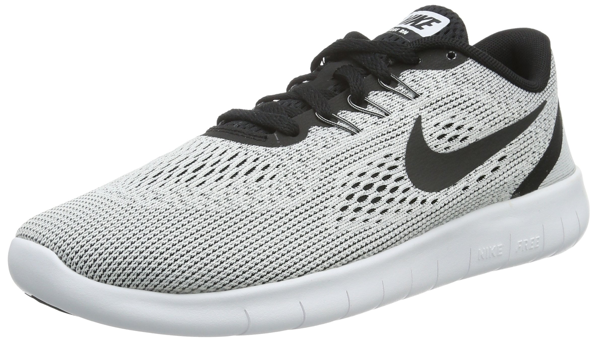 new concept 9e6f4 9e548 Galleon - NIKE Youth Free RN Running Shoes-White/Black-4.5